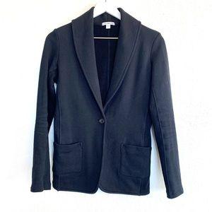 Standard James Perse Black Ponte Knit Blazer
